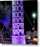 Lights Of The World Leaning Tower Of Pisa Metal Print