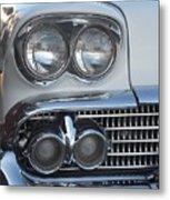 Lights On A '58 Chevy Metal Print