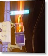 Lights That Eat Do Not Walk Signals Metal Print