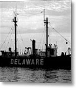 Lightship Delaware Vintage 1968 Metal Print