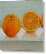 Ligne D Oranges Metal Print