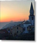 Ligurian Sunset Metal Print