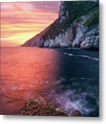 Ligurian Sunset - Vertical Metal Print