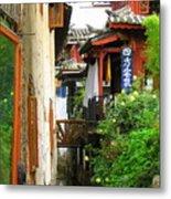 Lijiang Back Canal Metal Print