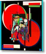Like Burrow In It's Abstract Burroughs The Word On It's Side Metal Print