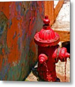 Lil Red Metal Print