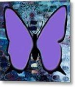 Lila Papillon Metal Print