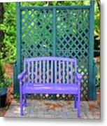 Lilac And Teal Garden Metal Print