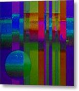 Lilac Doors Metal Print
