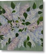 Lilac Flowers Expressing Harmony Metal Print
