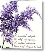 Lilac  Poem Metal Print