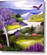 Lilac Valley Metal Print