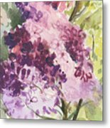 Lilacs - Note Card Metal Print