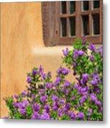 Lilacs And Adobe Metal Print
