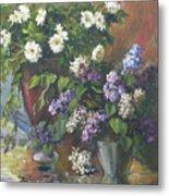 Lilacs And Asters Metal Print by Tigran Ghulyan