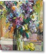 Lilacs And Lemons Metal Print