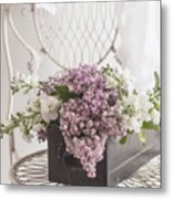 Lilacs Metal Print by Beverly Cazzell