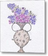 Lilacs In An Urn Metal Print by Christine Corretti