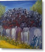 Lilacs On A Fence  Metal Print