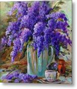 Lilacs Still Life Metal Print