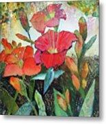 Lilies And Hummingbird Metal Print