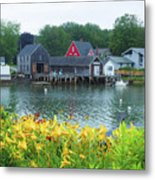 Lilies By The Bay, Cape Porpoise Me Metal Print