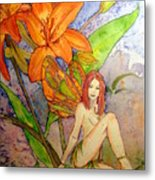 Lillian Keeper Of Both Wealth And Pride - Watercolor Metal Print