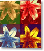 Lillies Of Four Metal Print