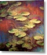 Lilly Pond In Autum  Metal Print