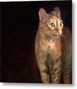 Lilly Standing At The Door Metal Print by Hazel Billingsley