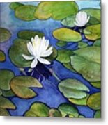 Lily At Little Spider Lake Metal Print