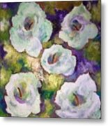 Lily Garden With Shadows And Light Metal Print