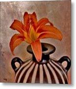Lily In A Peruvian Vase Metal Print