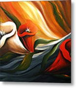Lily In Flow Metal Print by Uma Devi