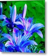 Lily In Green Metal Print
