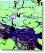 Lily Pads And Koi 2 Metal Print