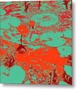 Lily Pads And Koi 35 Metal Print