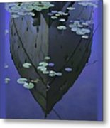 Lily Pads And Reflection Metal Print
