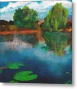 Lily Pond A La Torrie Metal Print