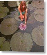 Lilypad Fairy Metal Print by Patricia Ridlon