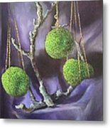 Lime And Violet In Harmony Metal Print
