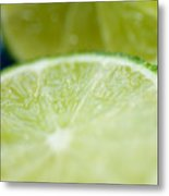 Lime Cut Metal Print