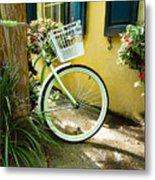 Lime Green Bike Metal Print