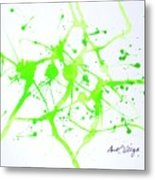 Lime Green Study Metal Print