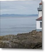 Lime Kiln Lighthouse Panorama Metal Print