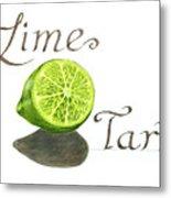 Lime Tart Metal Print