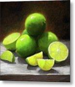 Limes In Sunlight Metal Print