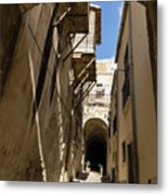 Limestone And Sharp Shadows - Old Town Noto Sicily Italy Metal Print