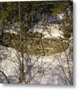 Limestone And Snow Metal Print by Richard Mitchell