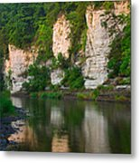 Limestone Bluffs Along Upper Iowa Metal Print
